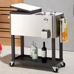 Trinity Stainless Steel Rolling Party Cooler