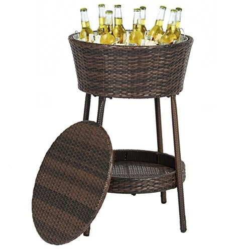 Best Choice Products Wicker Ice Bucket