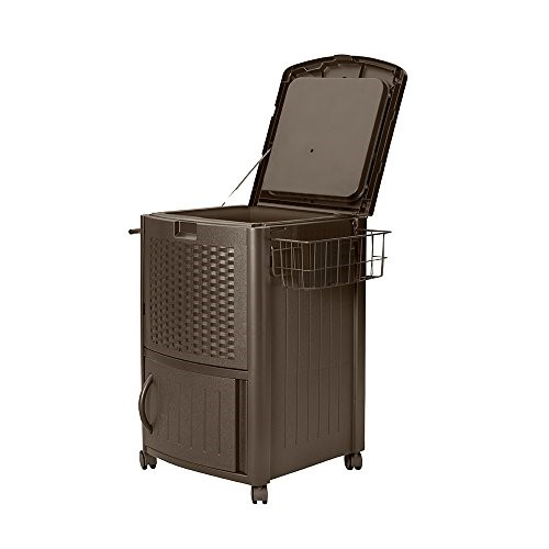 Suncast DCCW3000 Resin Wicker Cooler