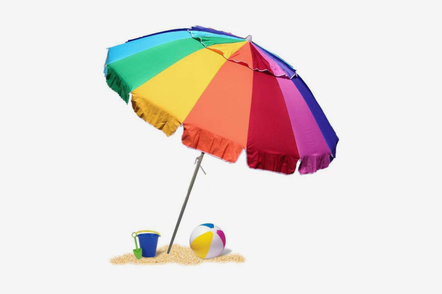 EasyGo 8 Foot Heavy-Duty High Wind Beach Umbrella