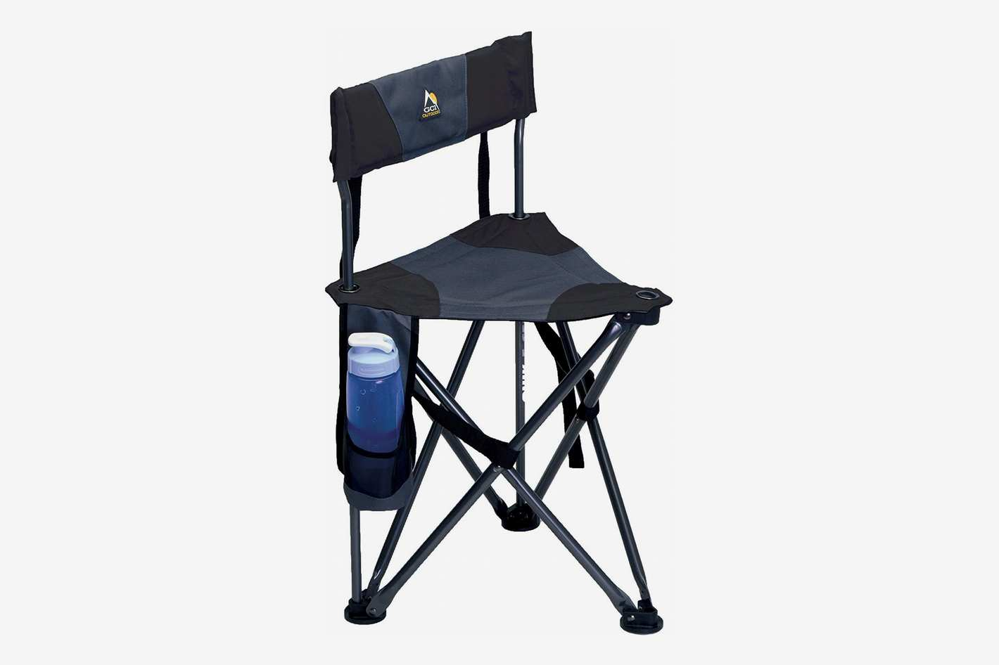 GCI Outdoor Quick-E-Seat Folding Tripod Field Chair With Backrest