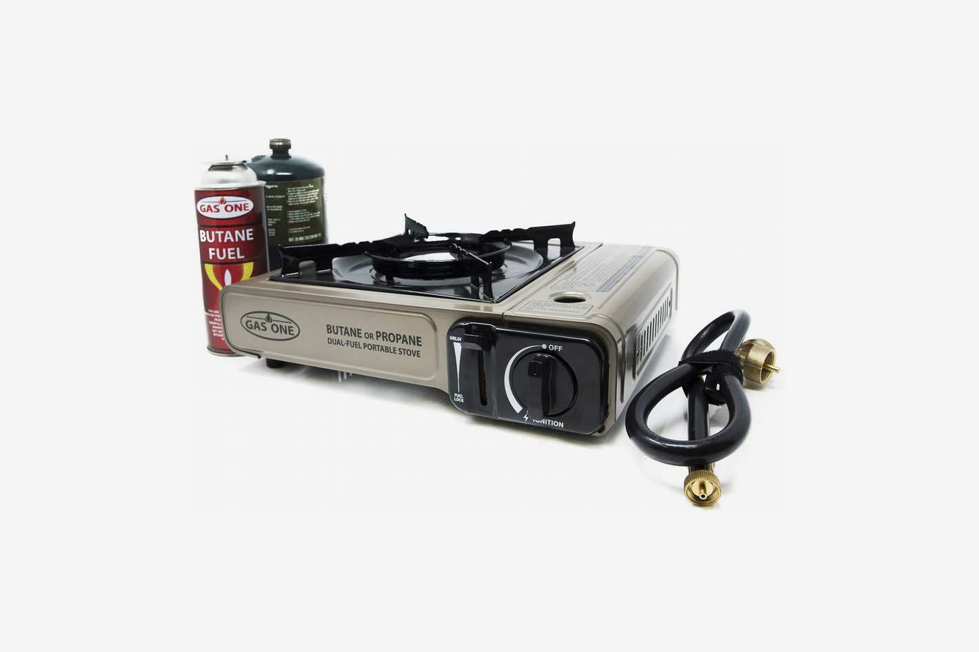 Gas ONE New GS-3400P Dual Fuel Portable Propane & Butane Camping Gas Stove Burner With Carrying Case